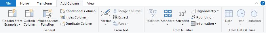 Excel Power Query Editor-Add Column