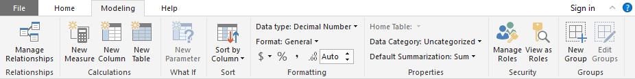 Power BI Desktop-Modeling