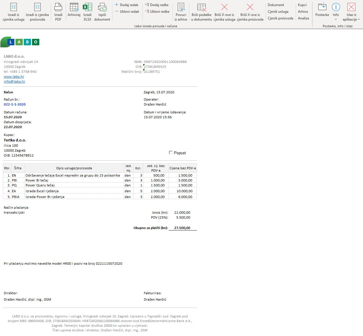 Excel Računi i ponude PRO